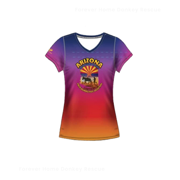 TS004-Arizona-Pack-Burro-Racing-Shirt-Rainbow-Front