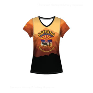 TS005-Arizona-Pack-Burro-Racing-Shirt-Mountain-Women-Front